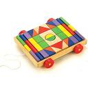 Blocks blocks エトボイラ blocks on wheels ( carts into small cubes 1 ) 3 years: 3-year-old man: woman