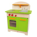 Hape ハペ company playing house kitchen gourmet kitchen (green) 3 years old