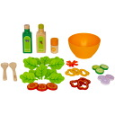 Hape Hape's make-believe set garden salad with 3-year-old