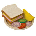 Plantoys sandwich set pretend play and 3-year-old play House: girls