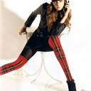MISS OROBLU BRITISH check switch tights red black and blue purple