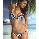Italy imported swimwear / brand swimsuit :JOLIDON F 1823 push up swimwear bikini black & white 10P13Dec13