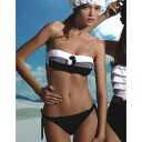 Italian import swimsuit / brand swimsuit :PRELUDE YF47 frill van do swimsuit bikini black and white fs3gm