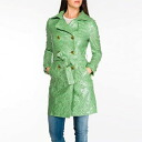 Italy imported coat POIS customization use trench coat waterproof Green