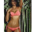 Italy import: LILLY LF5 プッシュアップブラジリアンタンガ swimsuit bikini peach black 10P01Feb14