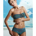 Italy swimsuit PRELUDE YF7 Morocco traditional Paisley pattern bandeau swimsuit bikini blue pink series