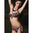 Red system 10P30Nov13 pro-swimsuit PRELUDE YF16 floral design pushup swimsuit bikini guilt in Italy