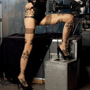 TRASPARENZE ROMANCE faux garter and floral pantyhose