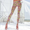 TRASPARENZE CONCERTO floral design leggings