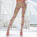 TRASPARENZE CONCERTO floral design leggings