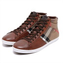 BURBERRY burberry vintage check high-top sneakers