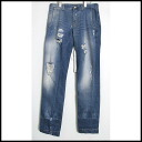 ■DOLCE&GABBANA Dolce & Gabbana ■ G381LP/G8H37 ■ crash denim underwear ■ wash blue ■ jeans ■ 44■