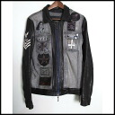 ■Diamond Dogs diamond dogs ■ leather denim zip up jacket ■ black ■ S