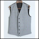Unused ■ TheBeauSnob the bow tie snobby ■ glen check gilet ■ gray ■ 46■