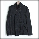 ■Roen ロエン ■ leather decoration shortstop trench coat ■ black 10P30Nov13