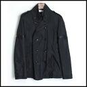 ■Roen ロエン ■ leather decoration shortstop trench coat ■ black 10P30Nov13