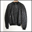 ■GUCCI gucci ■ 12SS quilting leather blouson ■ black ■ 44■
