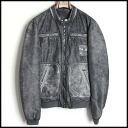 ■DOLCE&GABBANA Dolce & Gabbana ■ leather combination riders jacket ■ gray ■ 48■