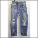 ■ &GABBANA DOLCE (Dolce & Gabbana) ■ mud processing crash denim pants ■ Indigo ■ 46 ■