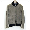 ■CINQUANTA( チンクアンタ) ■ suede cloth blouson ■ gray brown ■ 48■