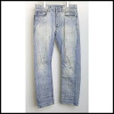 ■BALMAIN (Baru man) ■ crease-making processing denim underwear ■ wash blue ■ 29■