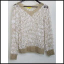 ■fillyO'LYNK (there is no フィリーオーリンクス )■ design knit ■ beige ■ mention)■