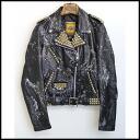 ■BESS NYC X Schott( Beth New York X shot) ■ PERFECTO double leather riders ■ black ■ M■