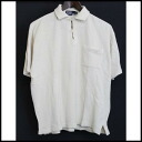 ■Polo by Ralph Lauren (polo by Ralph Lauren) ■ thermal polo shirt ■ ivory ■ M■