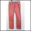 ■ DRIES VAN NOTEN (dries van noten) ■ coating denim pants ■ red ■ 31 ■