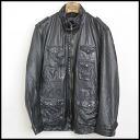 ■ BARNEYS NEWYORK (Barneys New York) ■ leather blouson ■ black ■ 46 ■