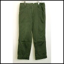 ■ kolor (color) ■ 09 AW puckering cotton pants ■ green ■ 3 ■
