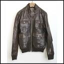 ■4 armand basi( allemande VAZ) ■ pocket leather JKT ■ brown ■ F■