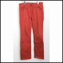 ■ NUMBER NINE (number nine) ■ hem zip stretch pants ■ red ■ 2 ■