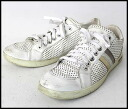 ■DOLCE&GABBANA (Dolce & Gabbana) ■ punching leather sneakers ■ white ■ 8■
