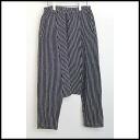 ■CDG COMME des GARCONS( comme des garcons) ■ stripe 柄縮絨 penguin underwear ■ black ■ M■