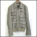 ■ &GABBANA DOLCE (Dolce & Gabbana) ■ 06 AW runway use 6 Pocket RAM leather JKT ■ gray ■ 48 ■