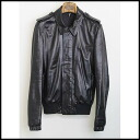 ■ Dior HOMME (Dior Homme) ■ 10 SS low solidity leather jacket ■ black ■ 44 ■