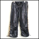 ■3 roar( lower) ■ レオパード 側章 nylon cropped pants ■ black ■ ■ 10P20Sep14
