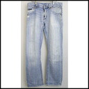 ■DOLCE&GABBANA (Dolce & Gabbana) ■ big zip studs denim ■ ice blue ■ 44■