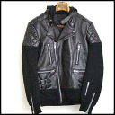 ■99%iS( ninety nine percentage is) ■ 12AW reshuffling leather riders JKT ■ black ■ 34■