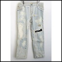 ■ JohnGalliano (John Galliano) ■ bleach process crash denim pants ■ Indigo ■ 40 ■ 10P01Nov14