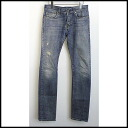 ■ SAINT LAURENT PARIS (sanrolampari) 13 AW damage processing slim denim pants Indigo 28 ■ b