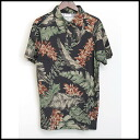 ■ DRIES VAN NOTEN (dries van noten) 14 SS botanical polo shirt black S ■ b