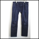 ■ MAISON KITSUNE (mezonkitsune) 13 AW melange processing straight denim Pant indigo blue 30 ■ b