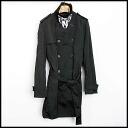 ■ KRIS VAN ASSCHE (Kris Van Assche) 13 AW trench coat black 46 ■ b
