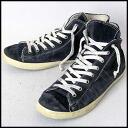 ■ Crown Leather (leather Crown) vintage processing side dip high cut sneakers Navy 42 ■ b05P04Jul15