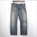 ■ HELMUT LANG (Helmut Lang) paint machined washed denim pants blue 29 ■ b