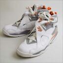 ■ NIKE (Nike) AIR JORDAN VIII 8 RETRO WHITE STEALTH white 28.5 cm ■ b