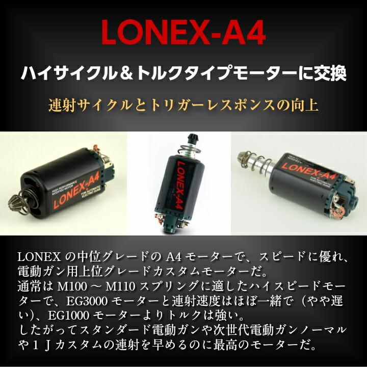 LONEX A4 ハイサイクル&トルクタイプモーターに交換