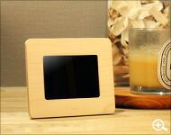 おしゃれな木製デジタルフォトフレーム3.5インチ